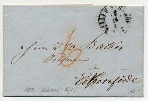 ALTDEUTSCHLAND VORPHILA BRIEF 1857 ... BAHNHOF 725442