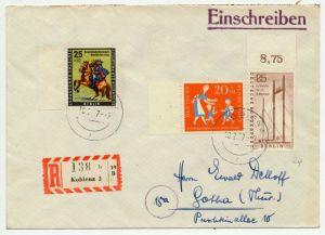 BERLIN 1956 Nr 157+158+BRD 251 BRIEF MIF 70C686