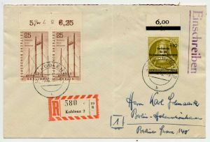 BERLIN 1956 Nr 157+155 BRIEF MIF 70C6BA