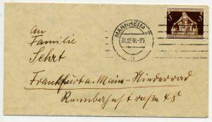 3. REICH 1936 Nr 617 BRIEF EF 720EBE
