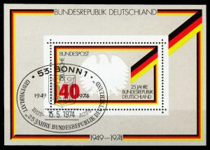 BRD BLOCK KLEINBOGEN Block 10-ESST-BONN gestempelt S4ED246