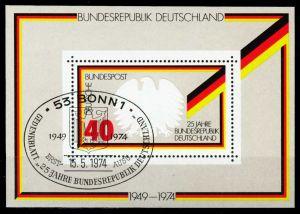 BRD BLOCK KLEINBOGEN Block 10-ESST-BONN gestempelt S4ED252