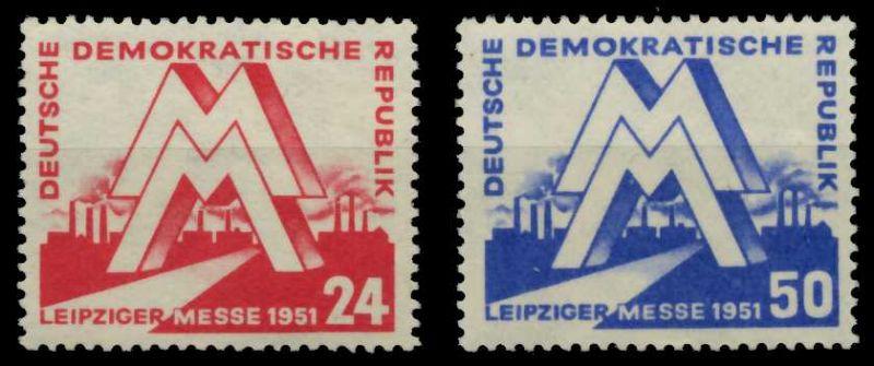 DDR 1951 Nr 282-283 postfrisch 750FF2
