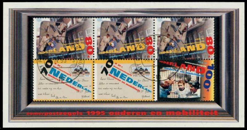 NIEDERLANDE Block 43 zentrisch gestempelt S007692