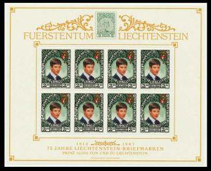 LIECHTENSTEIN 1987 Nr 921KB postfrisch KLEINBG S54518E