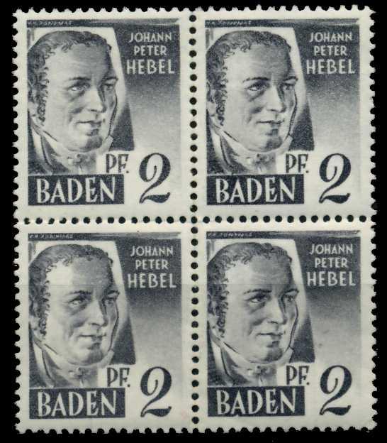 F-ZONE BADEN Nr 1yvI postfrisch VIERERBLOCK 7B7A62