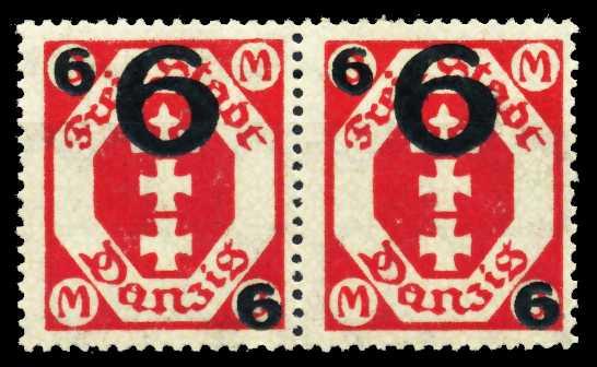 DANZIG Nr 106b postfrisch WAAGR PAAR 4C617E