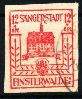 LOKAL-AUSG 1945 FINSTERWALDE Nr 7 gestempelt 5DF266