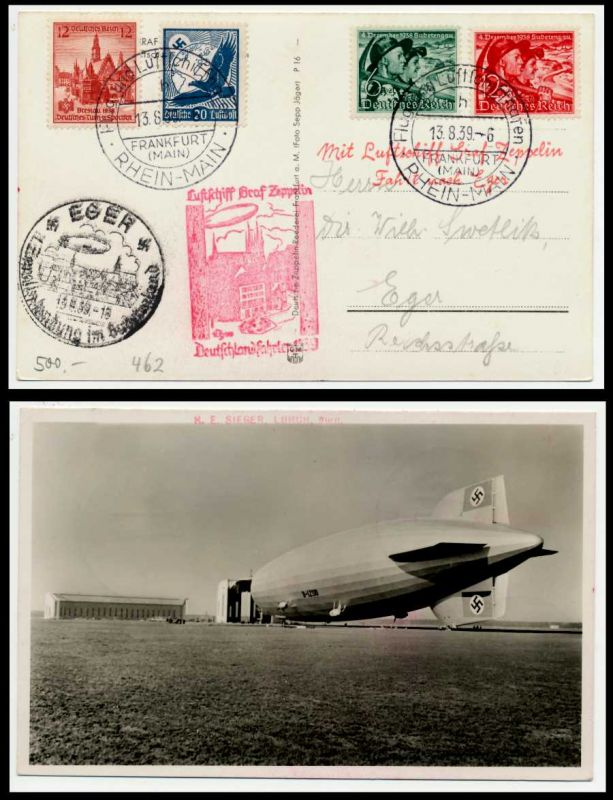 DEUTSCHE ZEPPELINPOST Nr 462 BRIEF MIF 71C802