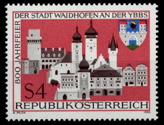 ÖSTERREICH 1986 Nr 1852 postfrisch S597F36