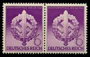 3. REICH 1942 Nr 818V postfrisch WAAGR PAAR 85471A