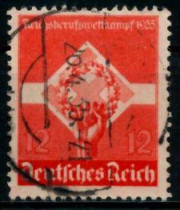 3. REICH 1935 Nr 572x gestempelt 86110E