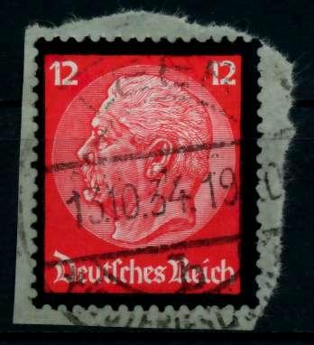 3. REICH 1934 Nr 552 gestempelt Briefst³ck zentrisch 8645FE
