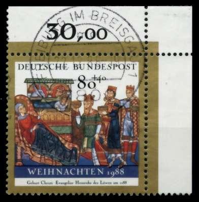 BRD 1988 Nr 1396 zentrisch gestempelt ECKE-ORE 8B4ACE