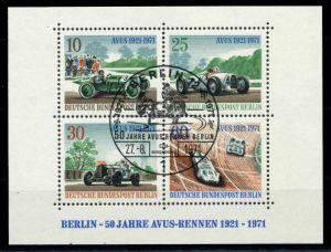 BERLIN 1971 Block 3-ESST zentrisch gestempelt SF89036