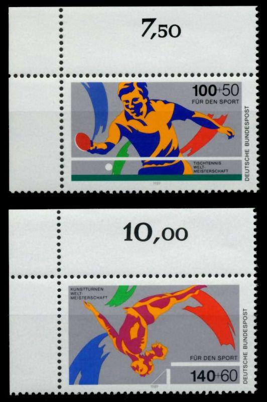 BRD 1989 Nr 1408-1409 postfrisch ECKE-OLI 8CD9B2