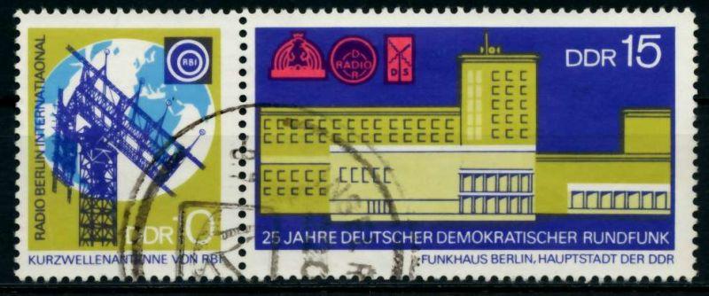 DDR ZD Nr WZd 217 gestempelt WAAGR PAAR 8D07FE