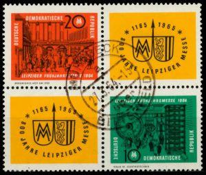 DDR ZD Nr 1012VB1-1013VB1 zentrisch gestempelt VIERERBLOCK 8D53BA