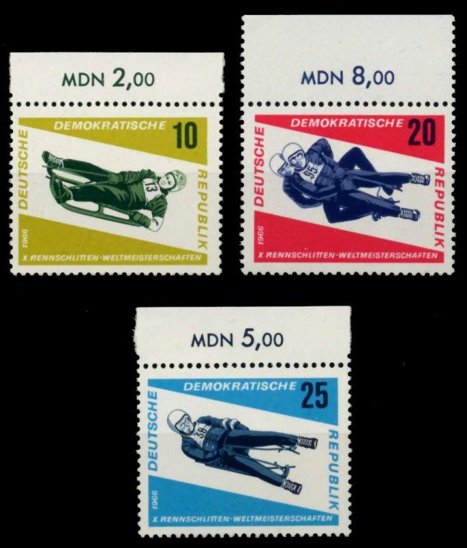 DDR 1966 Nr 1156-1158 postfrisch ORA 904A0A