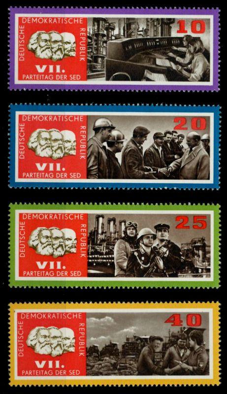 DDR 1967 Nr 1258-1261 postfrisch SFE7272 0