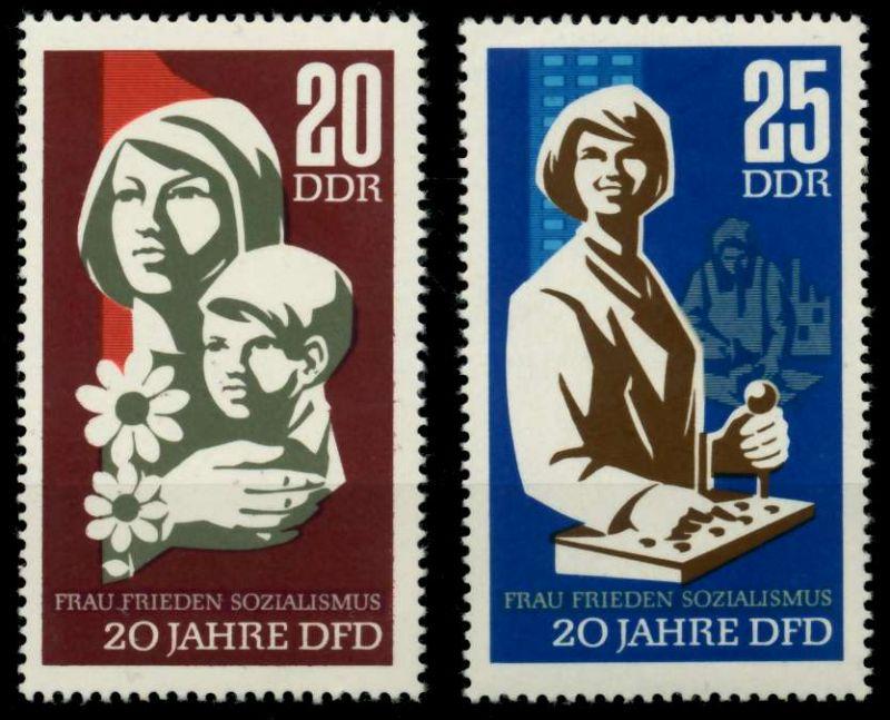 DDR 1967 Nr 1256-1257 postfrisch SFE725A 0