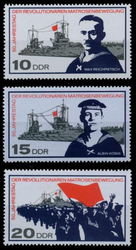 DDR 1967 Nr 1308-1310 postfrisch SFE739A 0