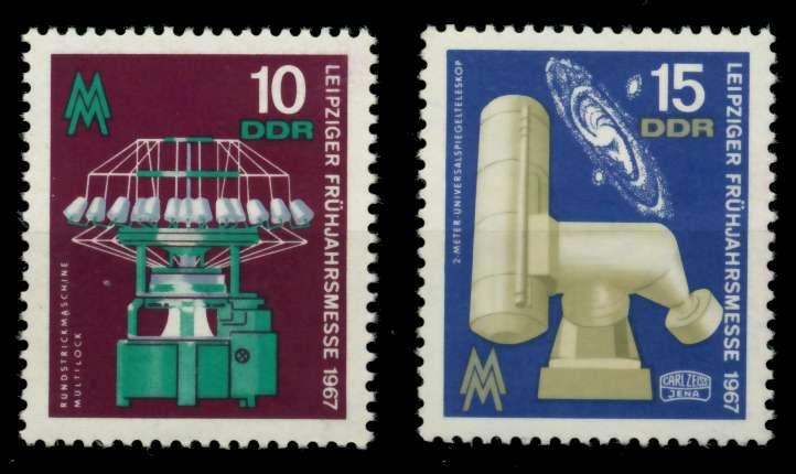 DDR 1967 Nr 1254-1255 postfrisch 907BD6 0