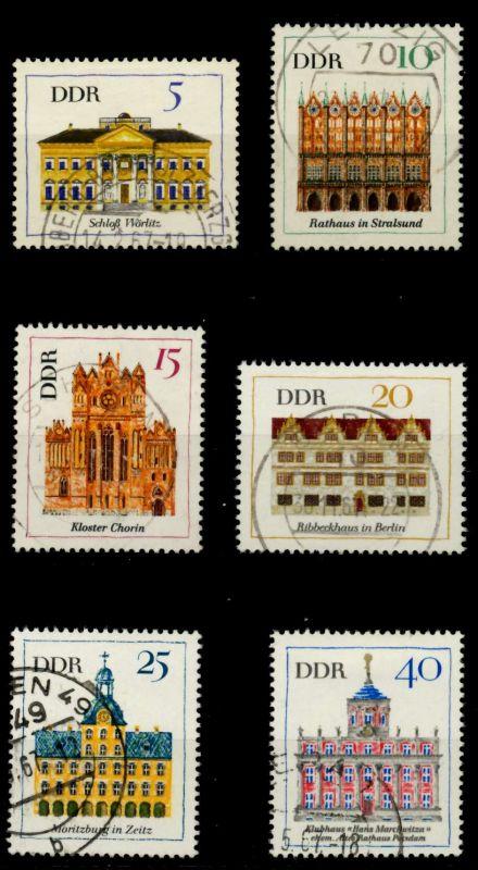 DDR 1967 Nr 1245-1250 gestempelt 907C36 0