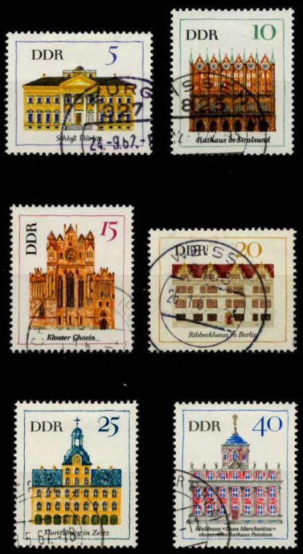 DDR 1967 Nr 1245-1250 gestempelt 90ADC2 0