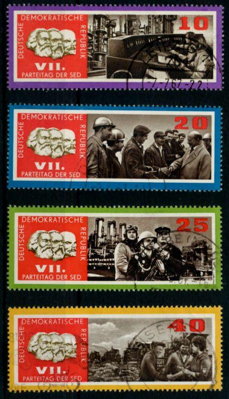 DDR 1967 Nr 1258-1261 zentrisch gestempelt 90AE06 0