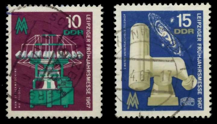 DDR 1967 Nr 1254-1255 gestempelt 90AE42 0