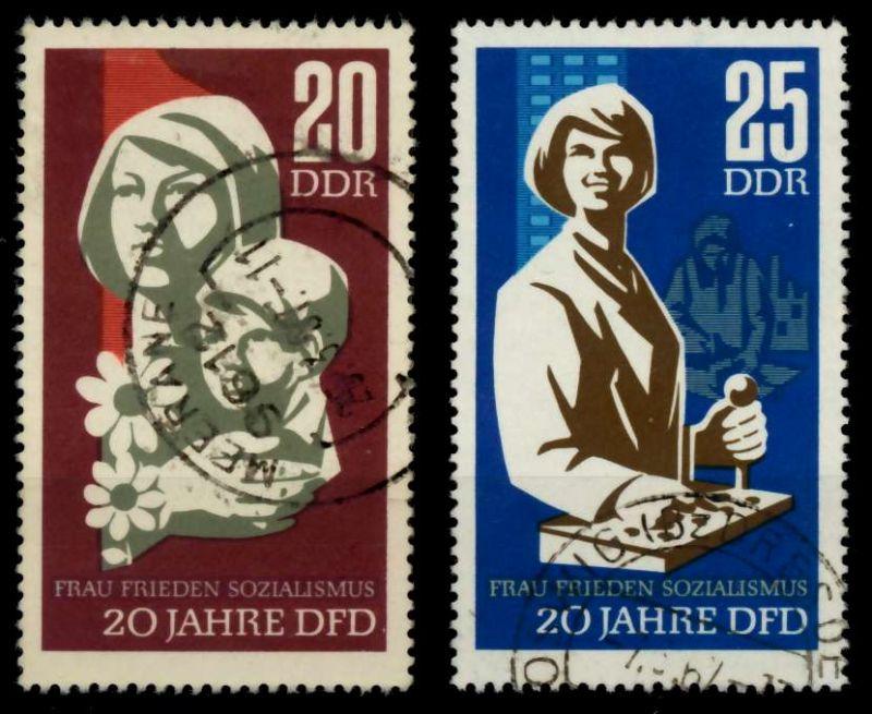DDR 1967 Nr 1256-1257 gestempelt 90AECA 0
