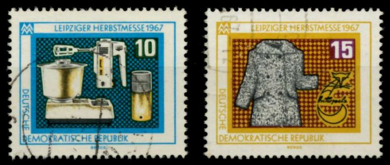 DDR 1967 Nr 1306-1307 gestempelt 90B026 0