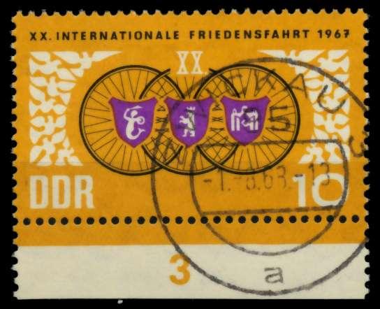 DDR 1967 Nr 1278 zentrisch gestempelt URA 90B0F6 0
