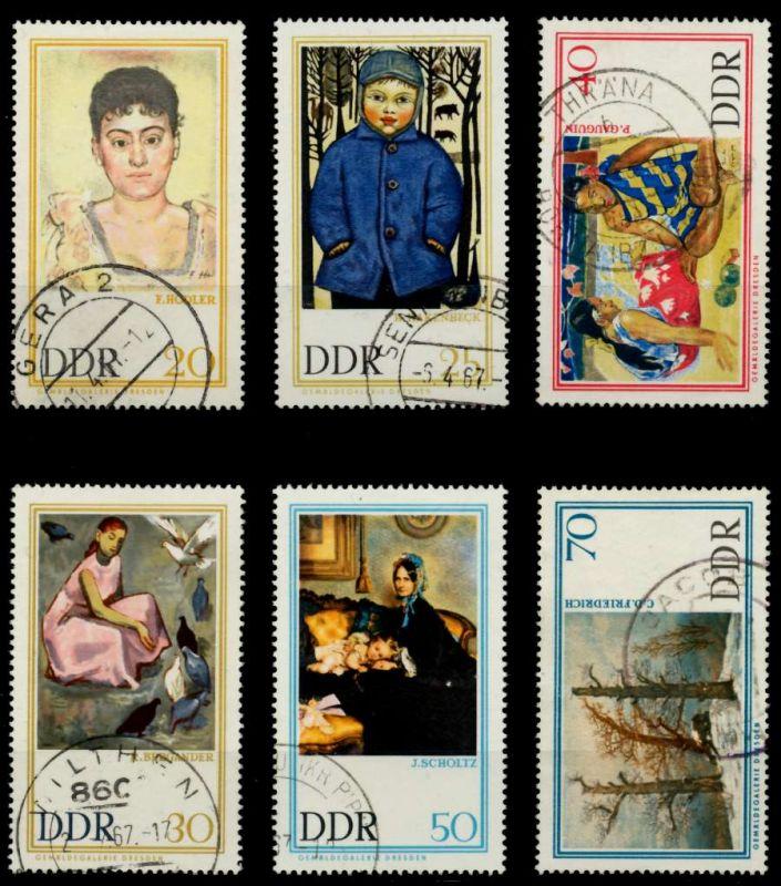 DDR 1967 Nr 1262-1267 gestempelt 90B31E 0