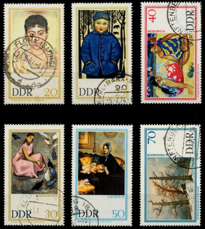 DDR 1967 Nr 1262-1267 gestempelt 90B342 0