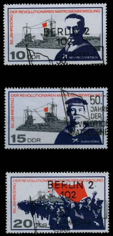 DDR 1967 Nr 1308-1310 gestempelt 90B35A 0