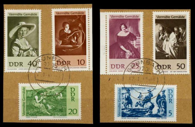 DDR 1967 Nr 1286-1291 gestempelt Briefst³ck 90B462