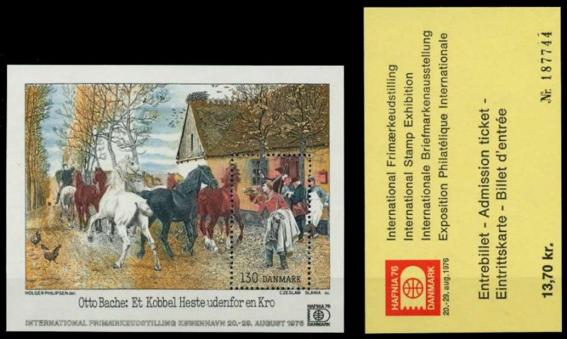 DÄNEMARK Block 3 + Karte postfrisch S02D406 0