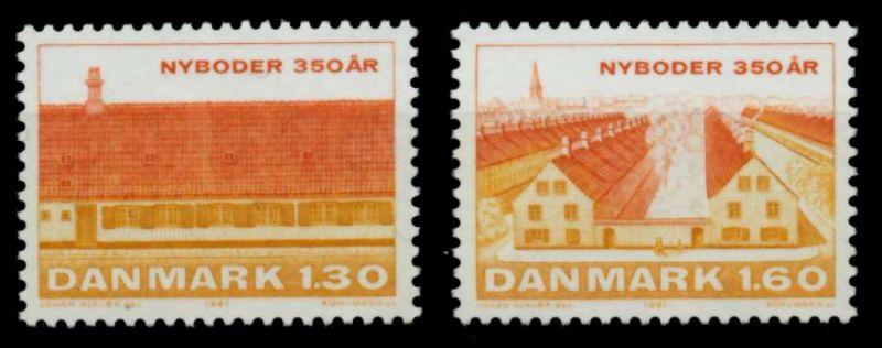 DÄNEMARK Nr 728-729 postfrisch S02D44A 0