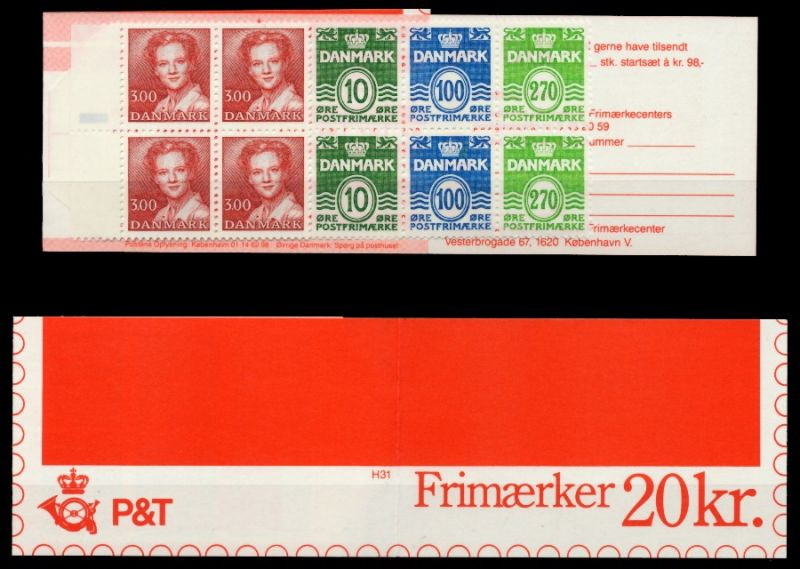 DÄNEMARK MARKENHEFT Nr MH 38 postfrisch S02D5FE 0