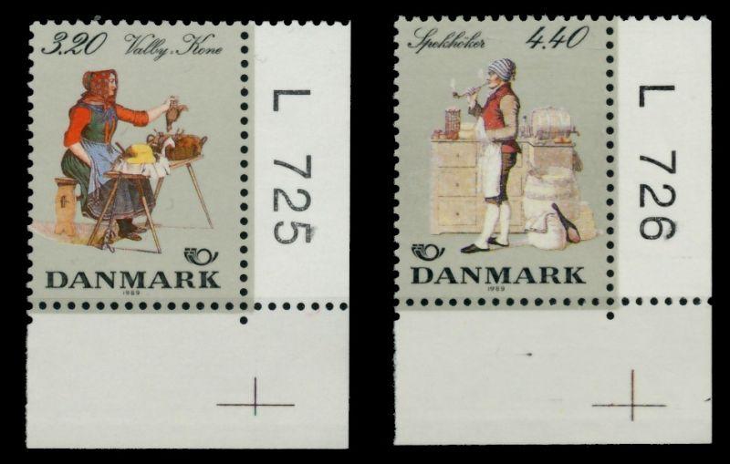DÄNEMARK Nr 947-948 postfrisch ECKE-URE 90DDAE 0