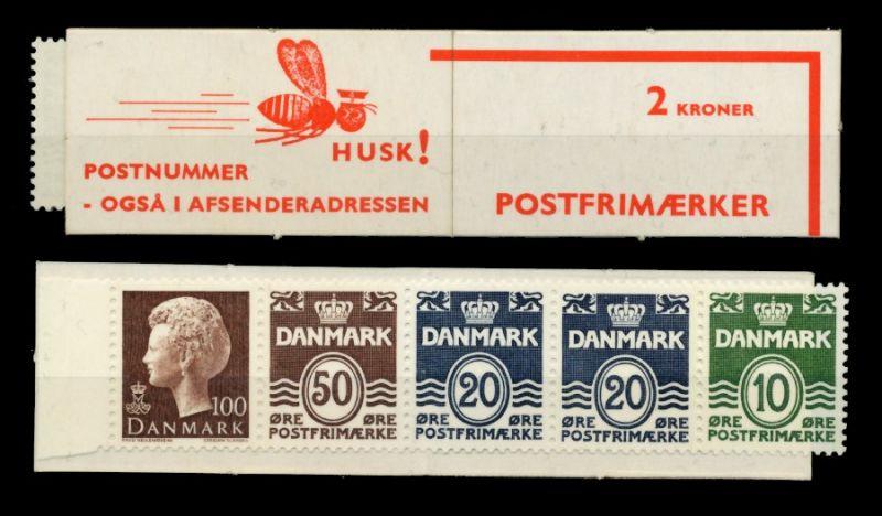 DÄNEMARK MARKENHEFT Nr MH 25 postfrisch 90DE82
