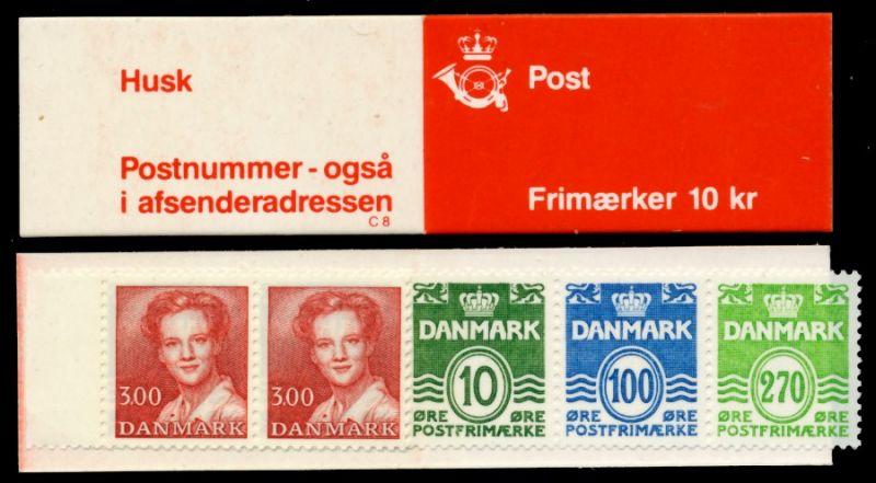 DÄNEMARK MARKENHEFT Nr MH 37 postfrisch S02D646 0