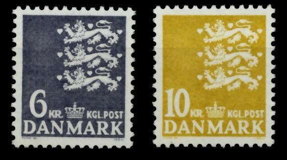 DÄNEMARK Nr 625-626 postfrisch 90DF22 0