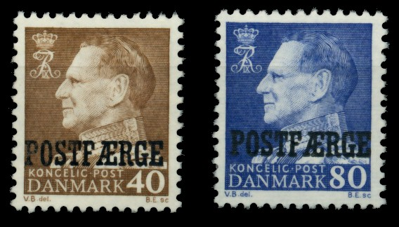 DÄNEMARK POSTFM Nr 41-42 postfrisch 90E00A 0