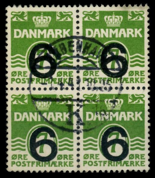 DÄNEMARK Nr 253 zentrisch gestempelt VIERERBLOCK 90E106