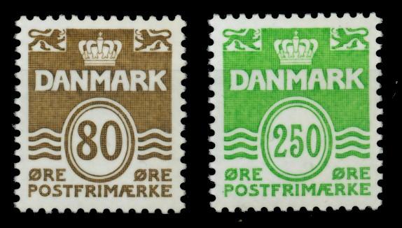 DÄNEMARK Nr 821-822 postfrisch 90E13A 0