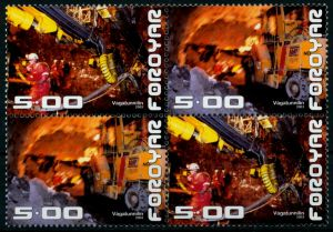 FÄRÖER Nr 446-447 postfrisch VIERERBLOCK 90E306