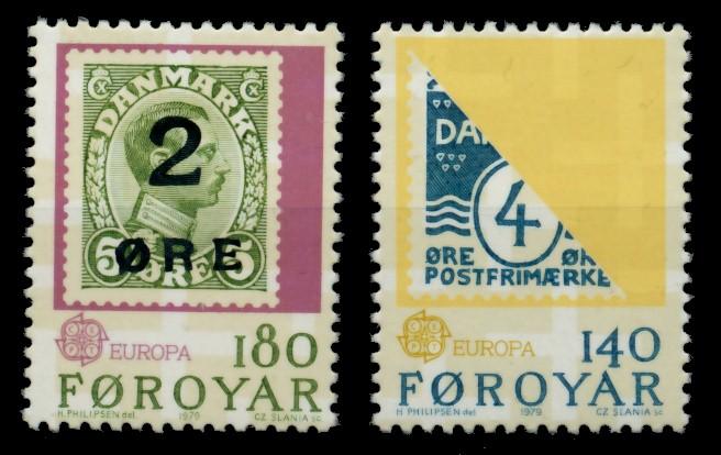 FÄRÖER Nr 43-44 postfrisch S031E56 0